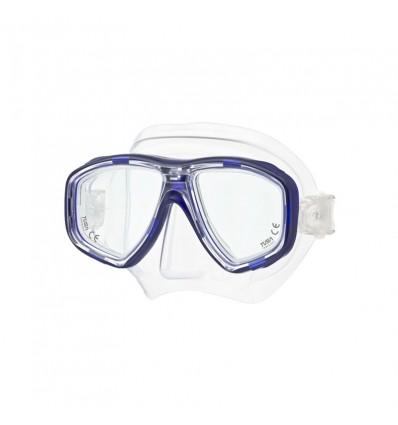 Máscara de Buceo neutra modelo GEMINUS en color azul/cristal, con posibilidad de ser graduadas.