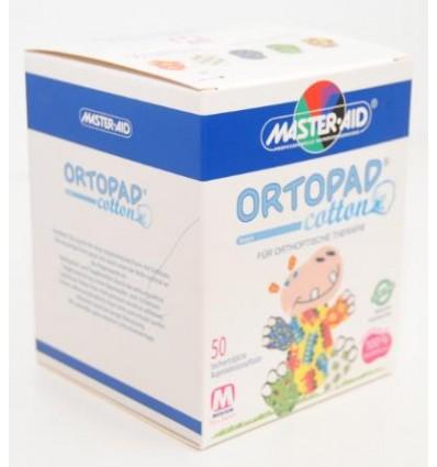 Parches oculares adhesivos Ortopad Boys Medium brillo, envasados en caja de 50 unidades, utilizados en tratamientos de Ortóptica